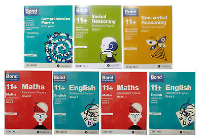 Bond 11+ Assessment English Maths Comprehension Reasoning Paper 7 Books 9-10 OUP