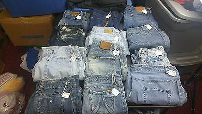 Women's Mixed Lot of 12 Jeans various Sizes,Brands & Styles for RESALE