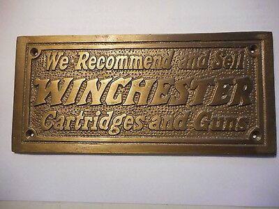 winchester wall plaque solid brass