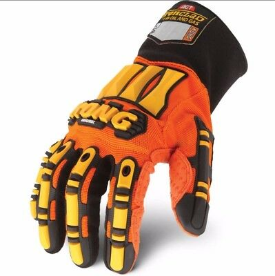 Original KONG Ironclad Safety Impact WORK GLOVES Hand Protection LARGE Oil Gas