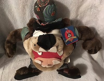 Vintage Warner Bros Groovey Taz Plush New With Tags