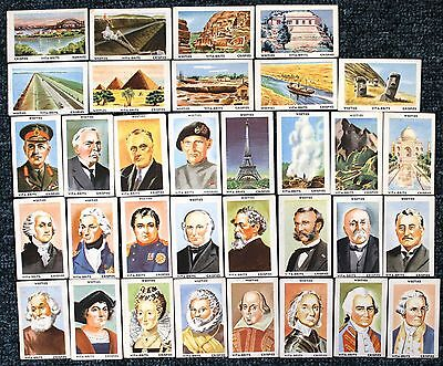 """1960s Vita Breakfast Cards - """"FAMOUS  PEOPLE  &  PLACES""""  x 33"""