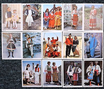 """1966  Sanitarium Breakfast Cards - """"NATIONAL COSTUMES  OF THE  OLD WORLD""""  x 14"""