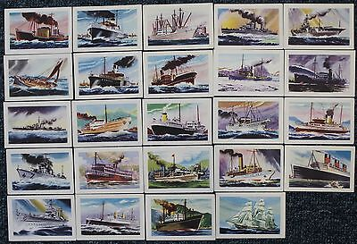 """1940s  Malties Collector Cards - """"KNOW  YOUR  SHIPS""""  x 24"""
