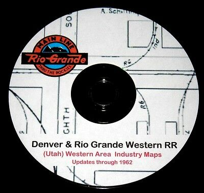 Denver & Rio Grande Western -  West Area Track & Siding Drawing PDF Pages on DVD