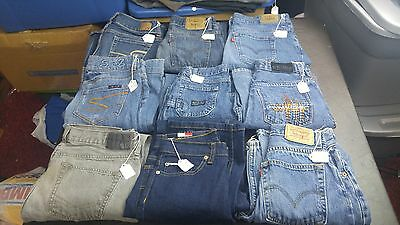 Women's Mixed Lot of 9 Pair Jeans,Various Sizes,Brands,Styles for RESALE