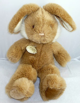 """Bunny Gund Toy  Sz 17 """" Long Brown And White"""