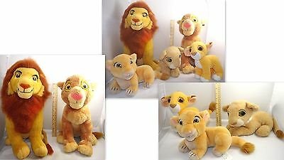 Super Lot Of 5 Disney Lion King Plush Stuffed Lions Pumba Nala
