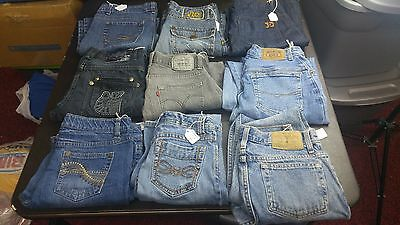 Women's Mixed Lot of 9 Pair Premium Jeans,Various Sizes,Brands,Styles for RESALE