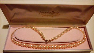 EXQUISITE 9CT GOLD & RONDELLE CULTURED FRESHWATER PEARL NECKLACE with GIFT BOX*
