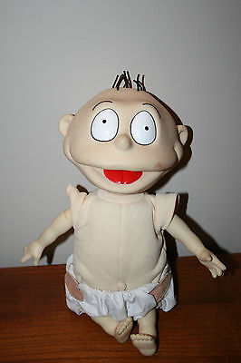 Rugrats 1997 Baby Tommy Pickles Doll Collectible Figure by Mattel Pump up arms