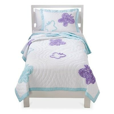 NEW Circo Flutter Butterfly Collection Twin Quilt with butterfly ~ 100% Cotton ~