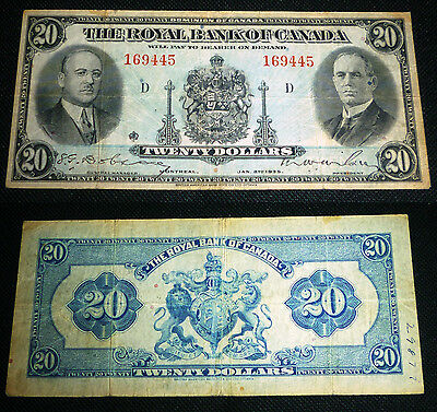 1935 $20 , Royal Bank Of Canada