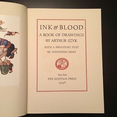 Arthur Szyk Ink and Blood Rare Signed 1st Edition WW2 Collectible Illustrations
