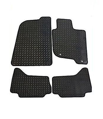 Toyota Yaris 2011 Onwards Tailored New Black Heavy Duty Rubber Car Floor Mats