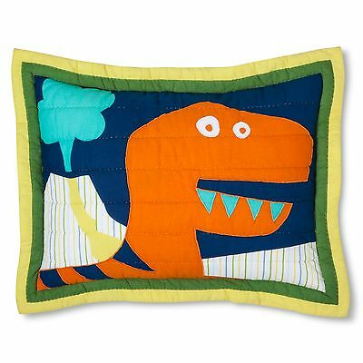 NEW Circo Dinosaur Embroidered Bedspread Quilted Sham - Standard
