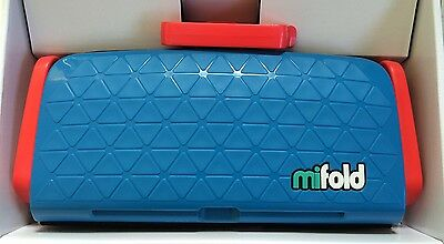 mifold Grab-and-Go Compact Portable Car Booster seat (Denim Blue) (bubble Bum)