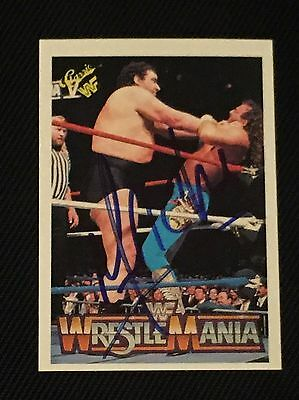 Andre The Giant 1990 Classic Wwf Wrestlemania Signed Autographed Card #78
