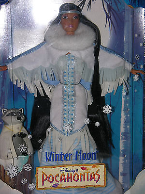 Disney's Pocahontas Winter Moon Doll with Meeko New Rare Mattel