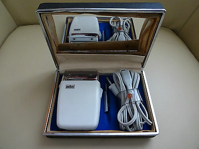 BRAUN VINTAGE ELECTRIC SHAVER 60s-70s EXCELLENT CONDITION (RARELY USED) 6 PHOTOS