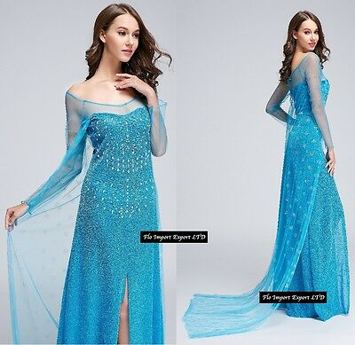 Frozen - Vestito Carnevale Donna Elsa Dress up Woman Elsa Cosplay 8899002B