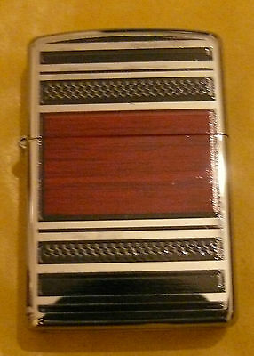 Steel And Wood Zippo Pipe Lighter Free P&p Free Flints