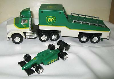1993 Limited Edition Bp Oil Toy Race Car Carrier New Nib With Formula One Car