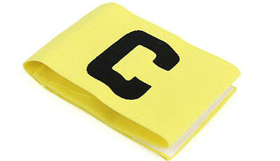 Captains Armband YELLOW Football Rugby Hockey Sports Velcro YOUTH - ADULT SIZE