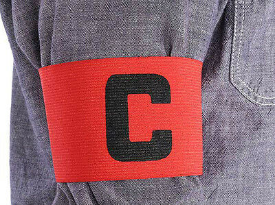 Captains Armband LIGHT RED Football Rugby Hockey Sports Velcro YOUTH ADULT SIZE