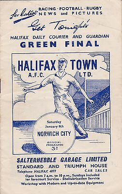 1959/60 HALIFAX TOWN v NORWICH CITY (Division 3)