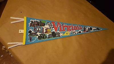 1991 Virginia Pennant felt flag souvenir 26.5""