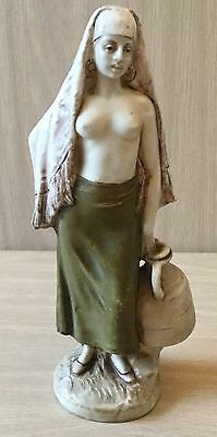 Royal Dux Bohemian Figurine Of Middle Eastern Girl With Ewer