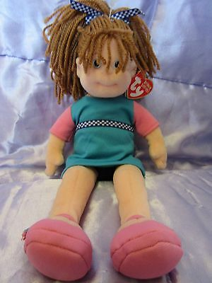 """TY Beanie Boppers. Bubbly Betty 2001. With Tag. 12"""". Handmade."""