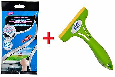 KIT - Mini Car Squeegee + Glass Wipes Cleaning - Lights Home window Glass Wiper