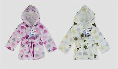 JOB LOT of 6 ASST: SUPER SOFT HOODED  BABY / TODDLER DRESSING GOWNS / ROBES