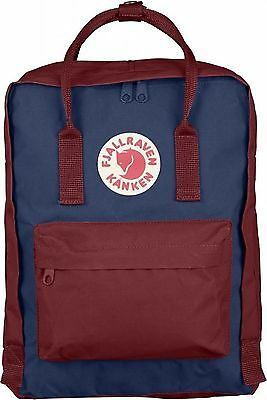 Fjallraven Kanken Classic Backpack Ox Red Navy Authentic Guaranteed UK SELLER