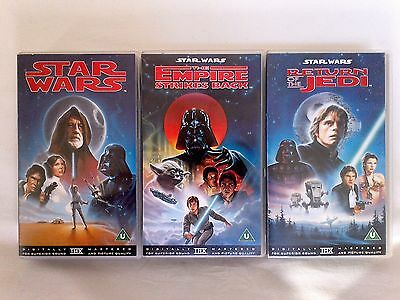 Star Wars Return Of The Jedi The Empire Strikes Back 3 Vhs Tapes Used