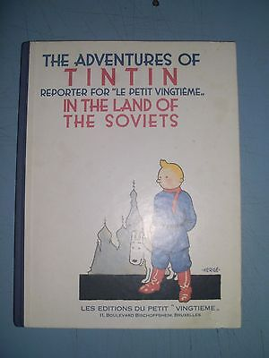 Tintin in the Land of the Soviets 1989 hardback first english edition
