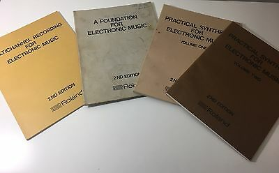 Roland Electronic Music Synthesizer Collection Manual Books *Vintage Synth*