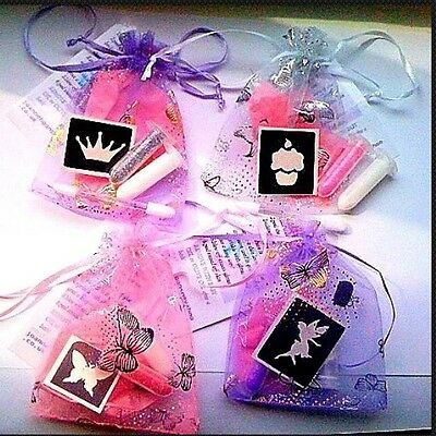 1  MINI GLITTER TATTOO KITS party bag fillers for GIRLS,UNIQUE,STUNNING,UNUSUAL!