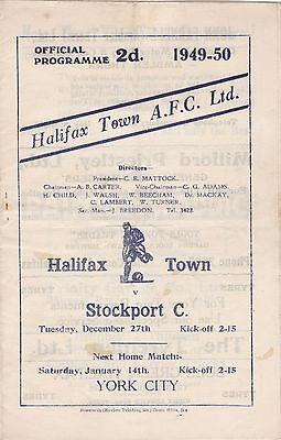 1949/50 HALIFAX TOWN v STOCKPORT COUNTY (DIVISION 3 NORTH)