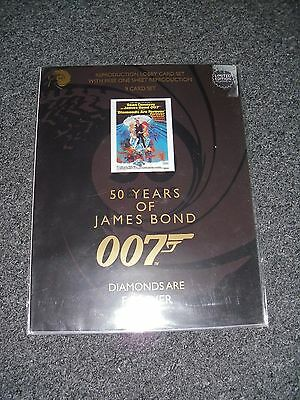 James Bond Diamonds Are Forever Lobby Card Set Brand New 50 Years Of Bond