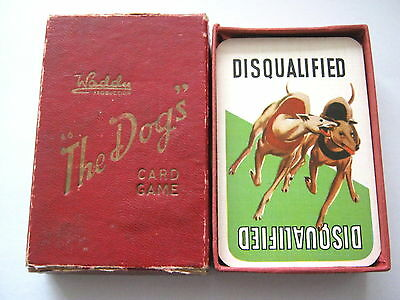 GREYHOUND RACING GAME THE DOGS WADDY PRODUCTIONS 1920s ANTIQUE PLAYING CARDS