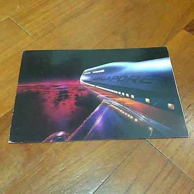 Rare Old Big Top 747 Singapore Airlines Postcard Type A