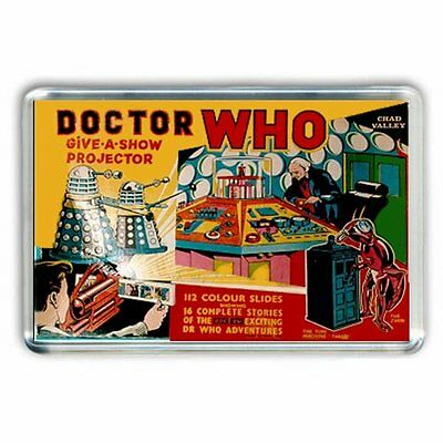 RETRO NOSTALGIA DOCTOR WHO GIVE A SHOW PROJECTOR BOX JUMBO COLOUR Fridge Magnet