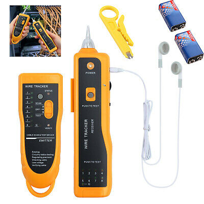RJ45 RJ11 Telephone Phone LAN Network Cable Wire Toner Tracker Tracer Tester NEW