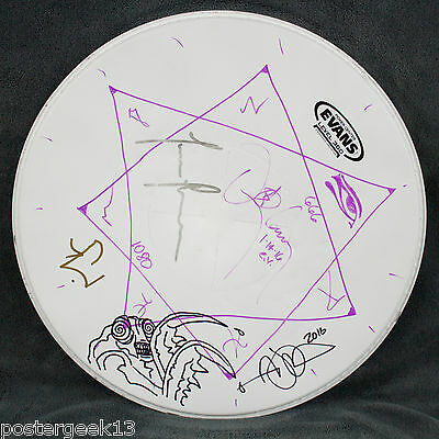 TOOL -band signed-  snare drum head with artwork by Adam Jones & Danny Carey