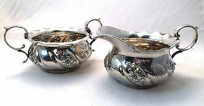 Antique 1897 Gorham Sterling Silver Creamer & Sugar Bowl # 5335
