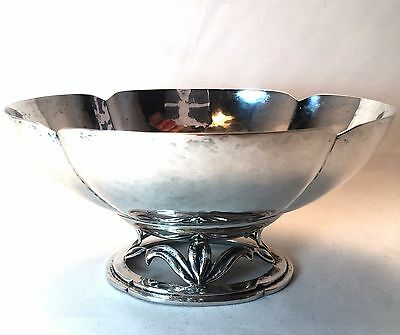 Vintage Sterling Silver Cellini Arts & Craft Handwrought Hammered Bowl  S17