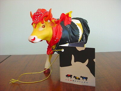 2002 COW PARADE Figurine MOO'VELOUS MISS RHINESTONE COW GIRL Retired #7252
